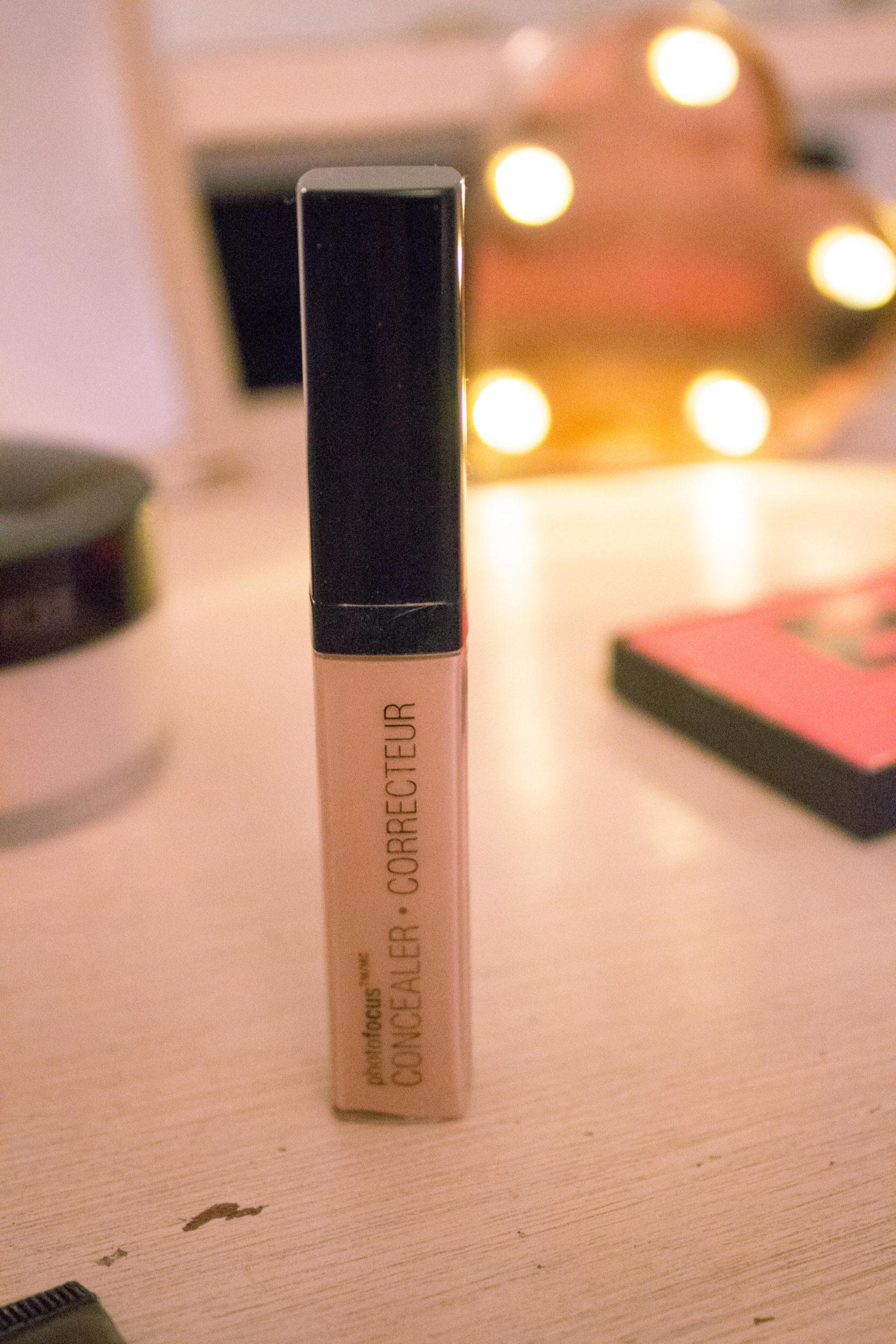 concealer on make-up desk