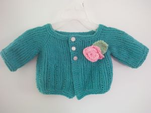 A baby's cardigan, finished April 2016