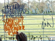 Calli sur vitres du T4S, Gradignan