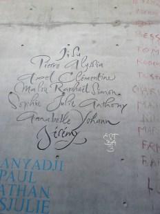 sur mur de l'éstba Bordeaux