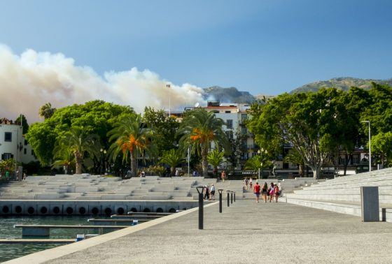 Fires as seen from Funchal