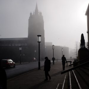 Norwich in the fog