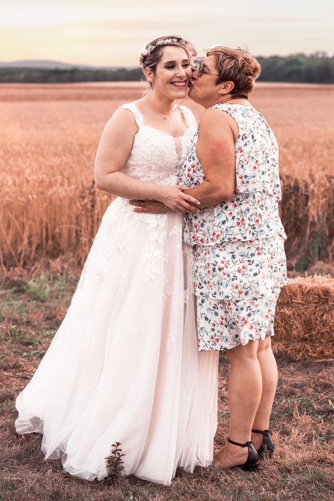 moment d'émotion, la mariée et sa maman