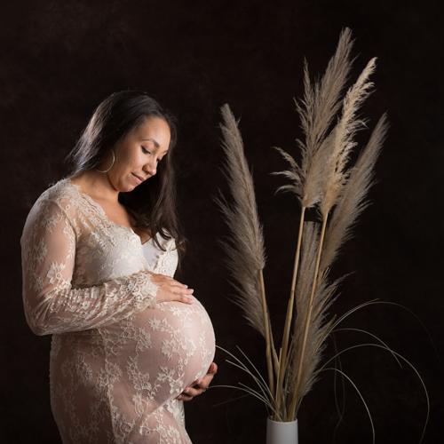 Douceur maternité en home studio laurence pouget photographie