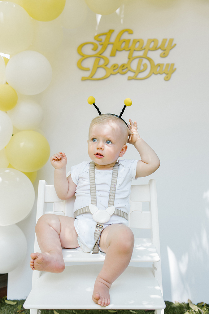bee themed first birthday party
