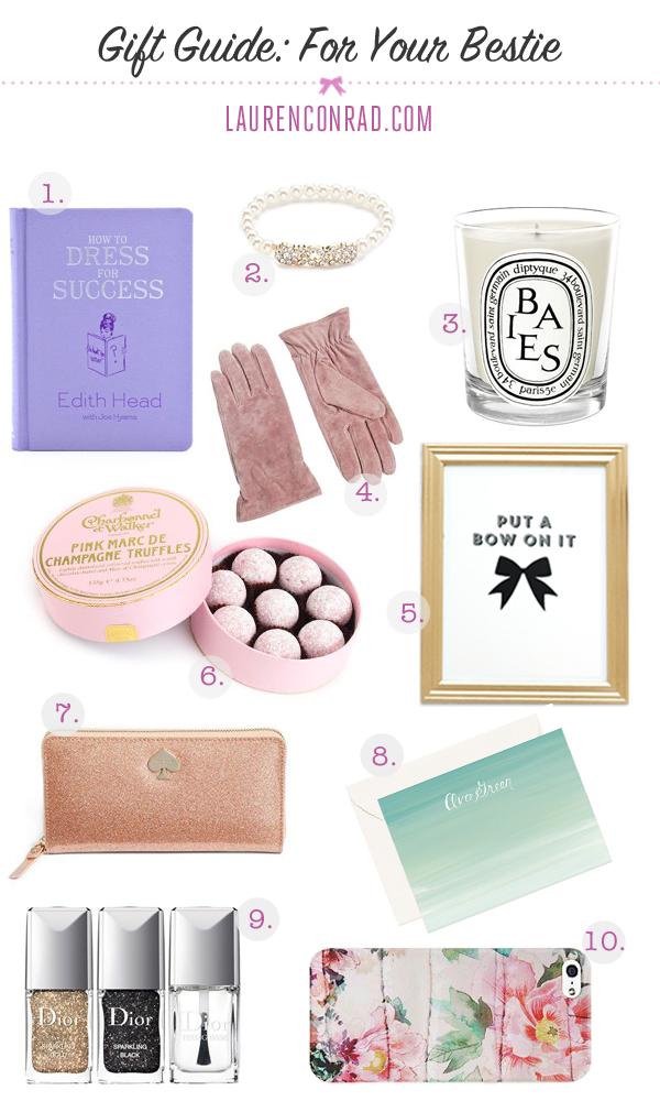 Gift Guide For Your Bestie Lauren Conrad
