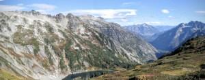 Sahale Arm above Doubtful Lake