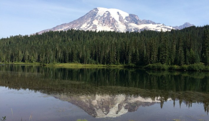 Mount Rainier from Reflection Lakes.