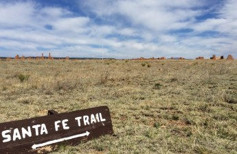 Santa Fe Trail ruts near Fort Union