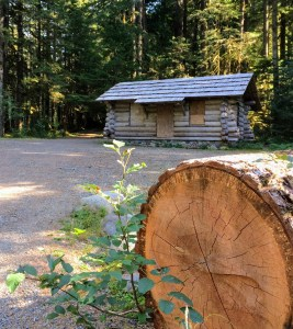 So far, storms have spared the charming log ranger station, no longer in use.