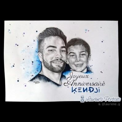 Kendji Girac enfant et Kendji Girac à 18 ans