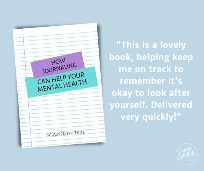 How Journaling can help your mental health booklet. Review: 'This is a lovely book, helping keep me on track to remember it's okay to look after yourself. Delivered very quickly!'