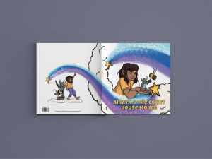 The Amaya & The Courthouse Mouse book cover design