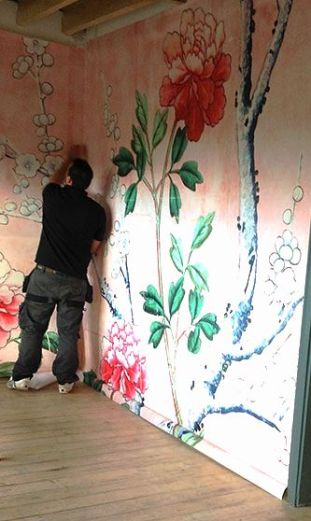 Wall Mural Installation