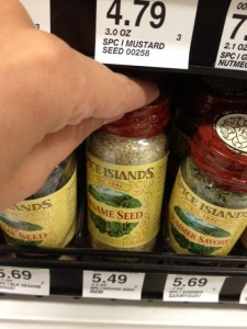 grocery store product placement