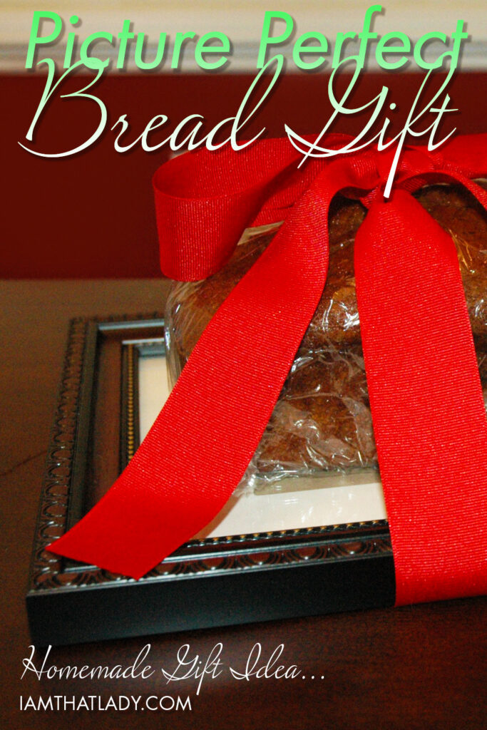Are you wanting to cut back on your Christmas spending? This easy homemade Christmas gift idea is brilliant. All you need is to bake a loaf of Pumpkin Bread, then get a dollar store frame and you have a beautiful gift idea!