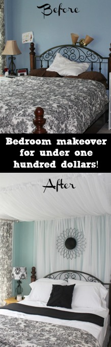 Check out this before and after bedroom design for only $100!