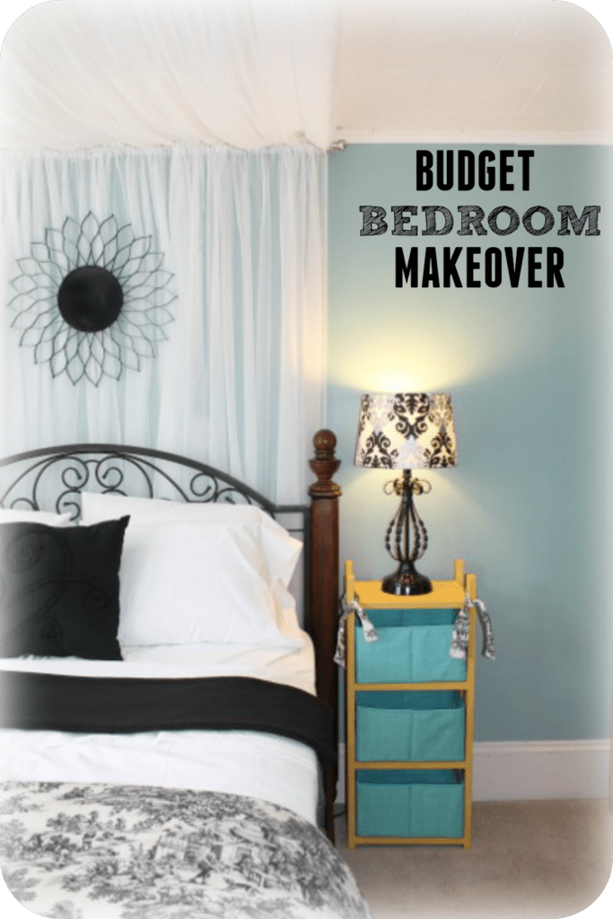 Wondering how to decorate your bedroom for less? Here is a beautiful bedroom makeover for under $150.00, come and take a look!