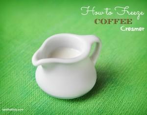 how to freeze coffee creamer