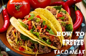 how to freeze taco meat