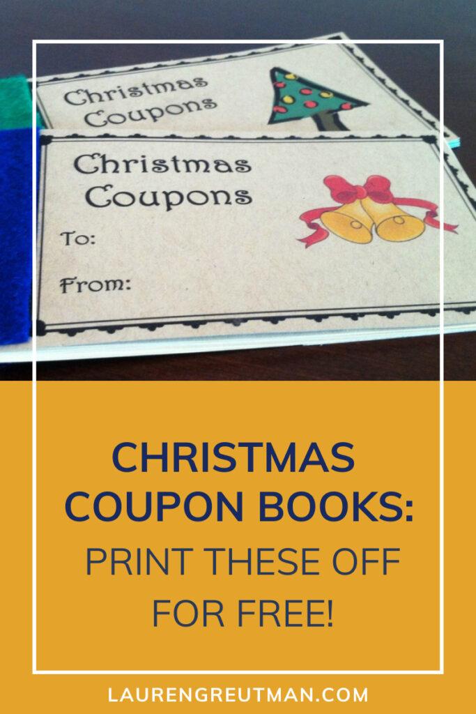 christmas coupon books
