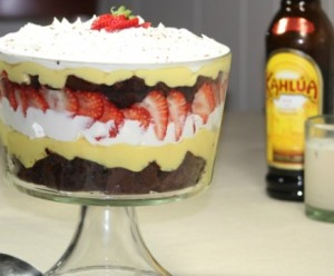 A delcious Kahlua and Cream Trifle is perfect for any holiday party!