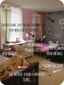After picture of the girls bedroom