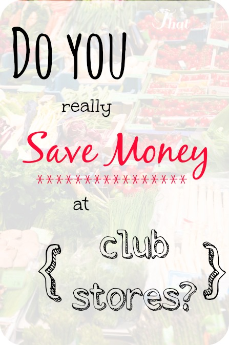 Do you ever wonder if you really save money by shopping at the club store? In this video I help explain to you what items to buy there and which items to pass on.