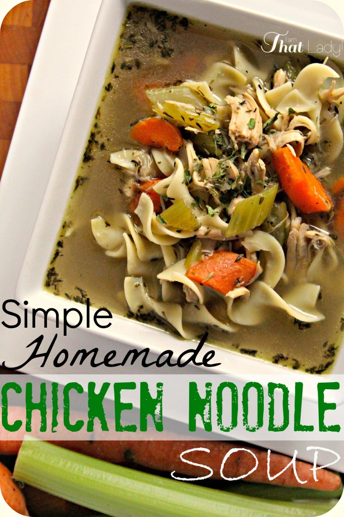 Homemade Chicken Noodle Soup is easier than you may think. This recipe is the best one I've ever had, better than my grandma's!