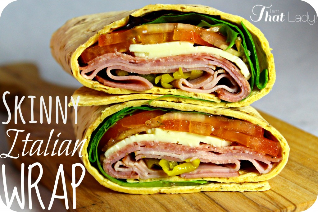 Are you looking to save calories but don't want to skimp on your favorite foods? Here is a delicious Skinny Italian wrap that has all the ingredients of your favorite sub, but 1/3 of the fat and calories!