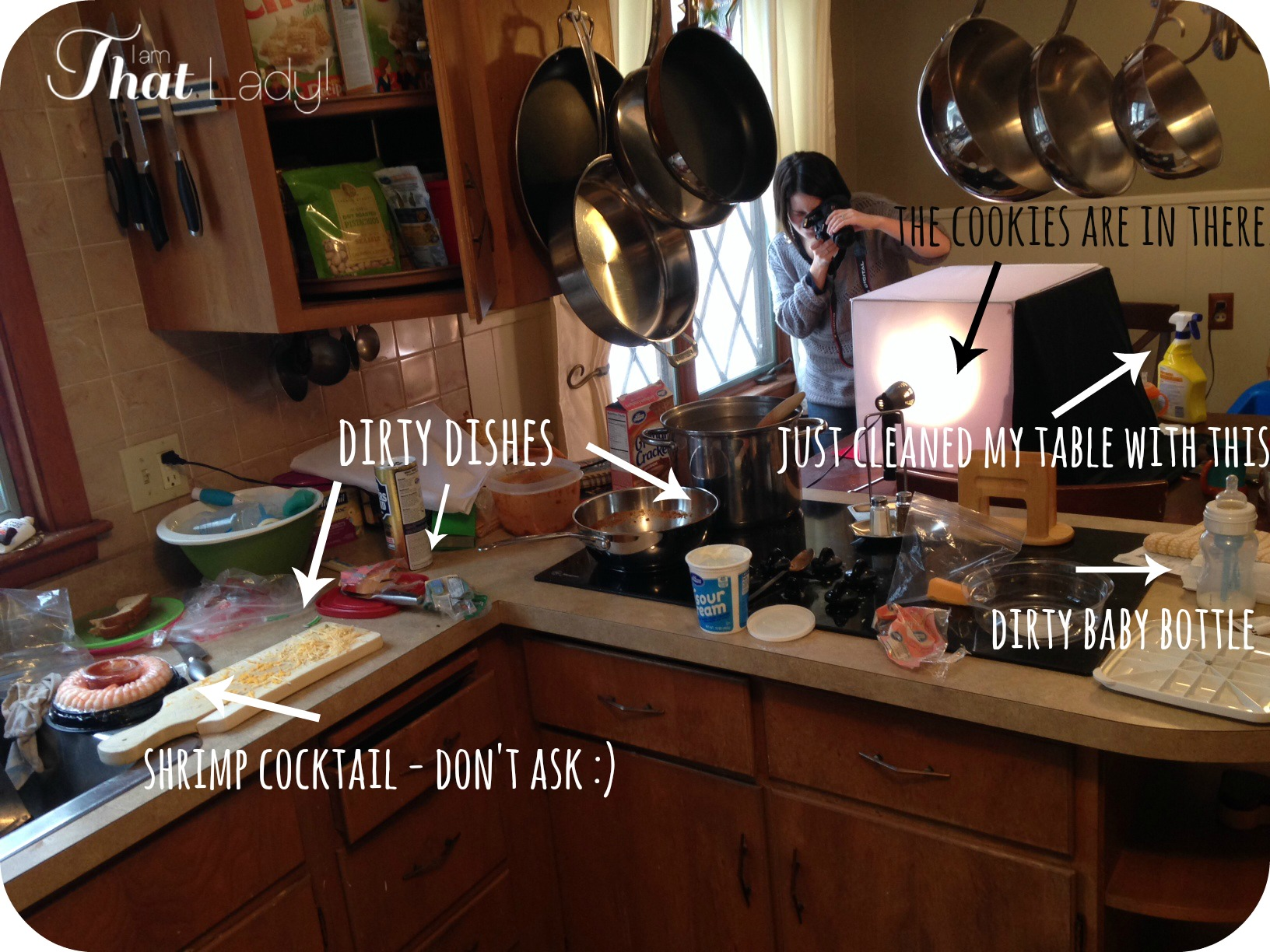 What my kitchen looks like during taking pictures