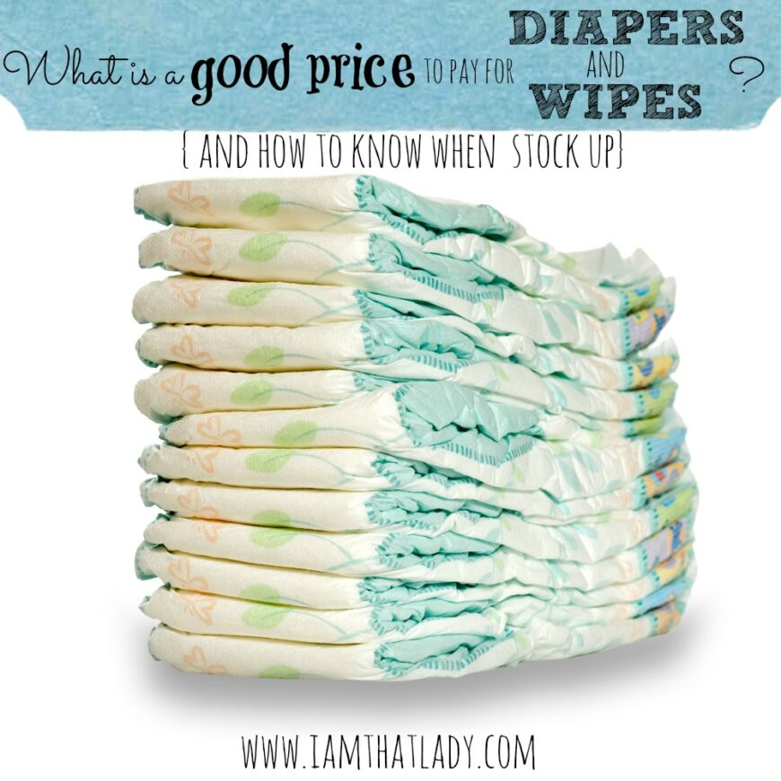Having a baby can be so expensive - so what is a good price to pay for diapers and wipes? This post will break it all down for you!