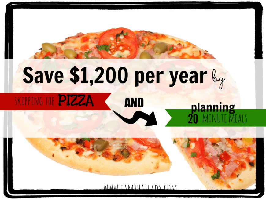 Do you find yourself eating out a lot because you get to the end of the day and are too tired? did you know that you can save $1,200 per year just by planning out some simple 20 minute meals instead of getting pizza?