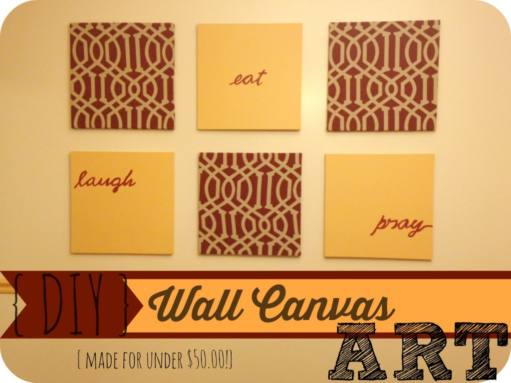 Are you looking for an inexpensive way to decorate a wall Here is a tutorial on how to make this beautiful Wall Canvas art for under $50.00!!