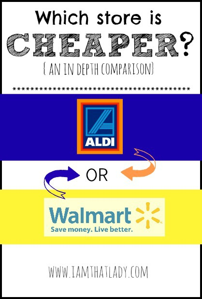 Which store is cheaper? Walmart or Aldi? Take a look at this in depth comparison.