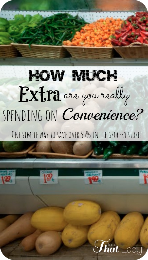 How much extra are you really spending on convenience in the grocery store? An in depth look.