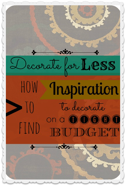 Do you live with a tight budget but still want to redecorate? Read this article about how to find inspiration for decorating on a tight budget!