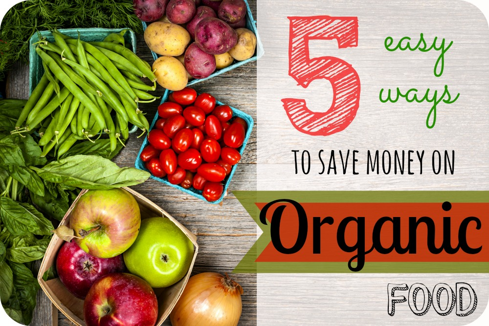 Buying organic foods can be expensive, but that doesn't mean you have to spend a lot of money! Here are my 5 top tips on how to save a lot of money when shopping for organic groceries!