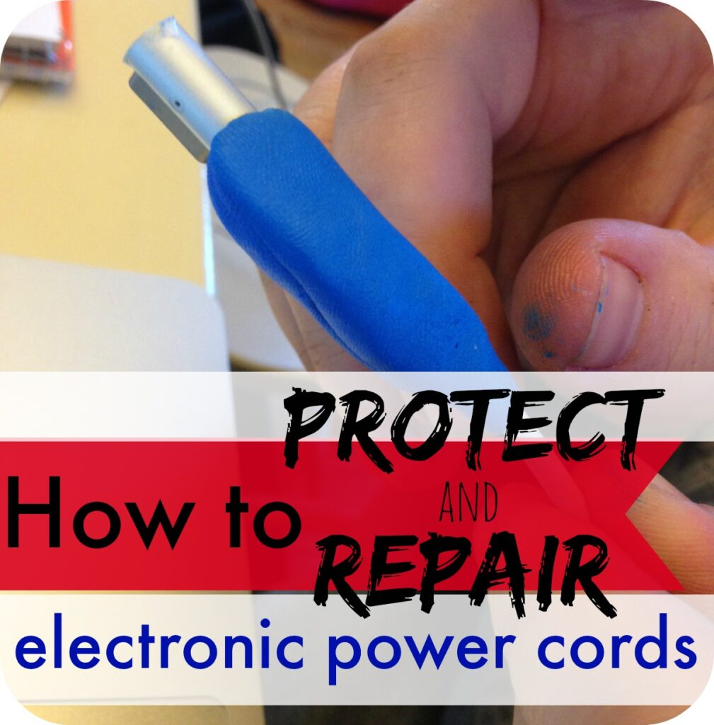 Are you sick of buying new power cords for your electronics Here is a super easy (and less expensive) way to fix them just like new!