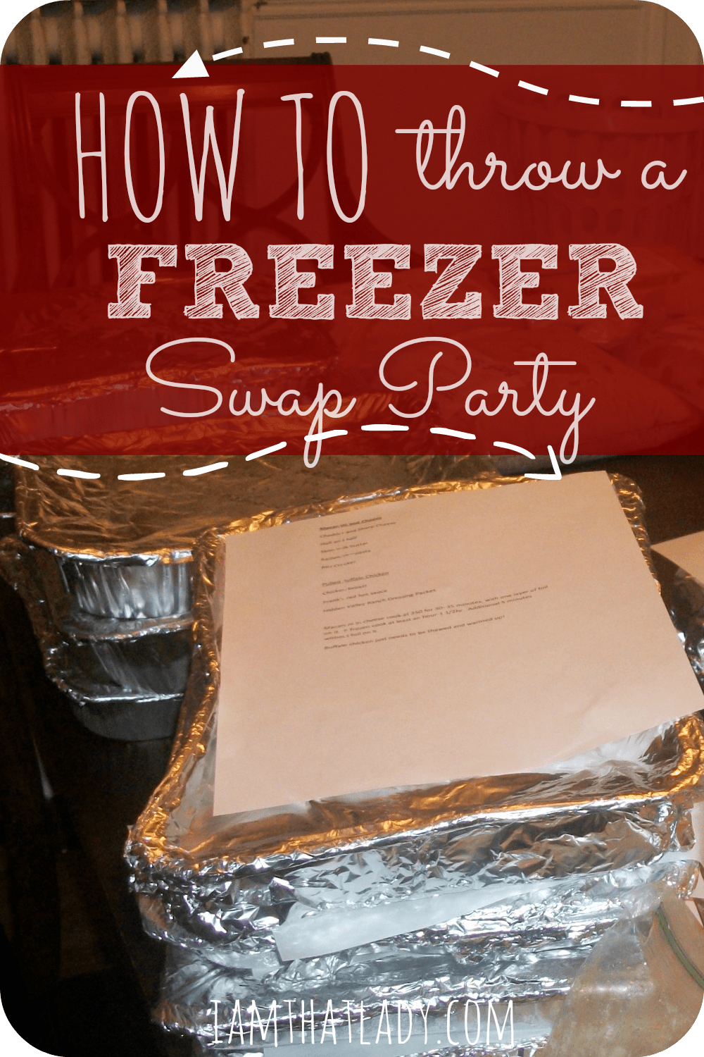 Are you looking to save money on your grocery bill?  Here is a great idea - get together with some girl friends and do a freezer swap?  You each make a certain amount of freezer meals, then get together and drink some wine and swap your meals.  See all the details for this fun night in this post!  Such a fun idea!