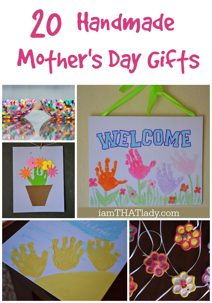 Are you looking for handmade Mother's Day craft ideas? Here is a list of 20 of my favorites that kids can easily make for their moms!