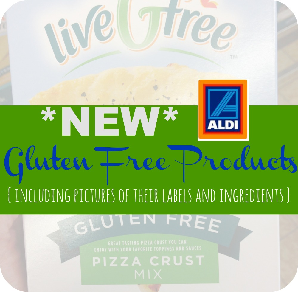 Aldi just started a new gluten free line of food! Here is a list of the new products plus pictures of their labels and ingredients so you know if there are any other allergens.
