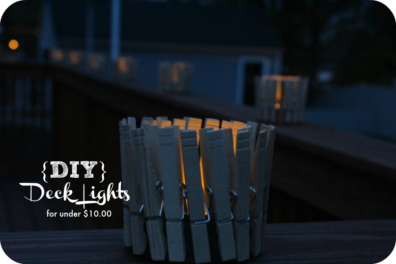 Looking for an inexpensive alternative for Deck Lights. Check out this easy tutorial on how to make your own for under $10.00.