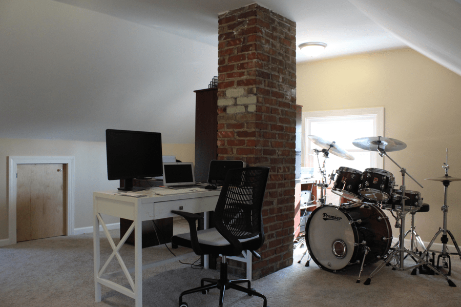 Finished Attic with Drums