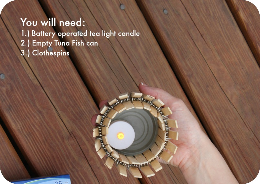 What you will need to make your own tea light candles