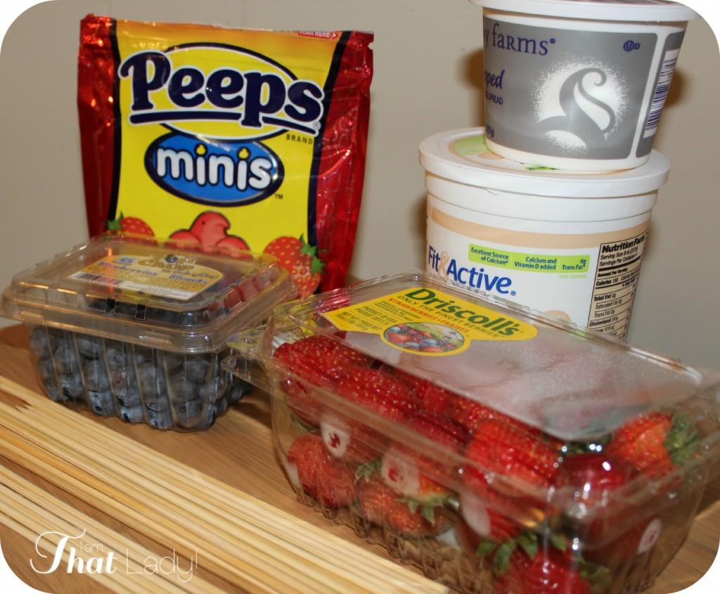 Summer Peep-Kabob supplies!