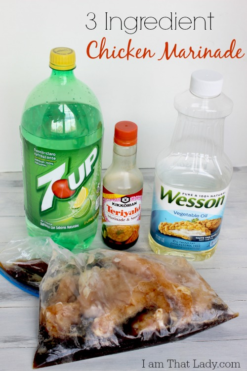 This is the best chicken marinade - only 3 ingredients and one of them is 7up! I am trying it, do you want to try too?