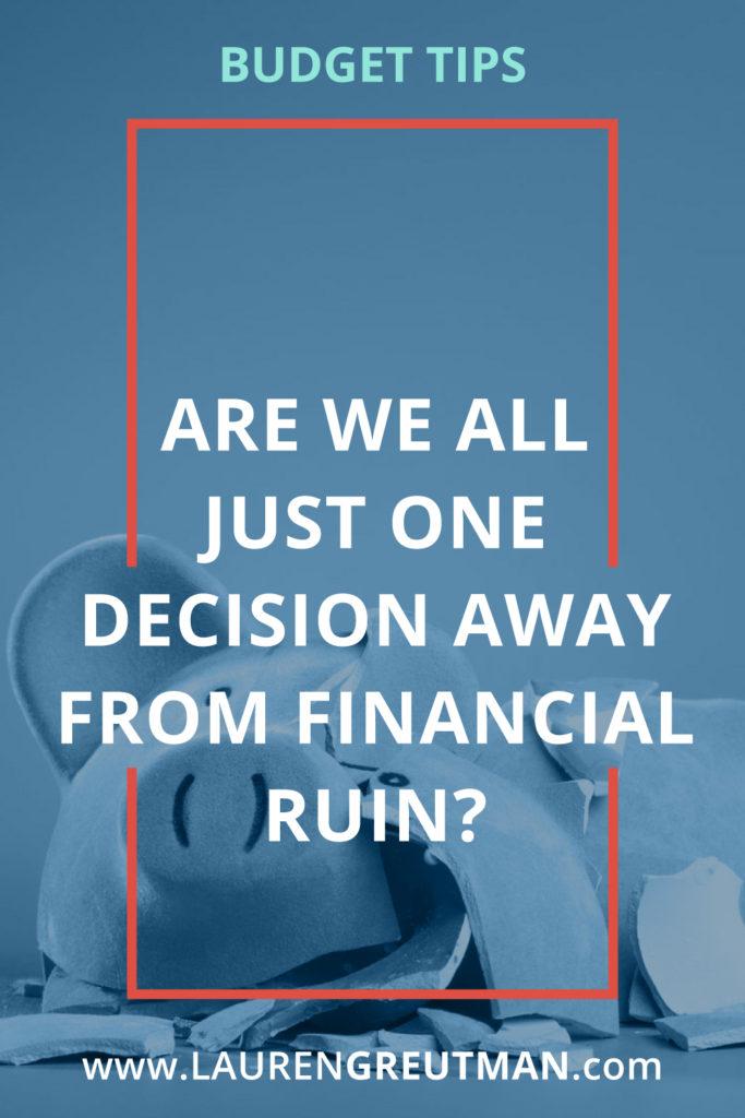 financial ruin