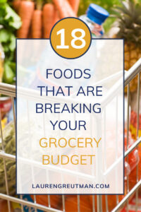 Foods that are Breaking your Grocery Budget