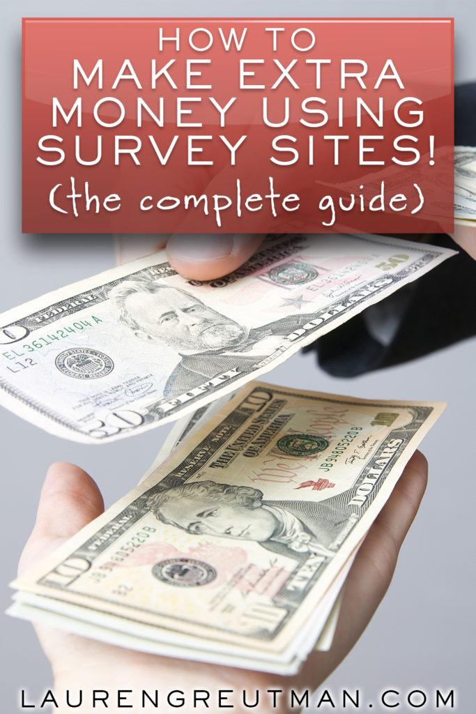 make extra money using survey sites